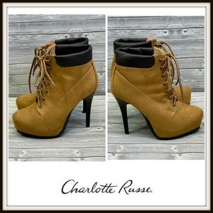 Charlotte Russe Timberland Like Wheat Heeled Boots